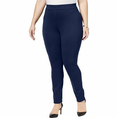 Style & Co. Womens Plus Seamed Stretch Leggings Industrial Blue 24W