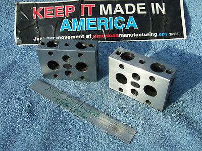 Moore 1-2-3 Blocks W/Case Toolmaker Machinist Grind Mill Inspection Quality!!