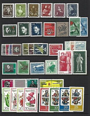 Germany - East Germany. Collection of 112 stamps, 1957 to 1990, Mint.