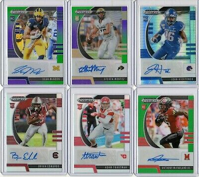 2020 Prizm Draft Football Rookie Refractor Auto Color Pick Your Card Player