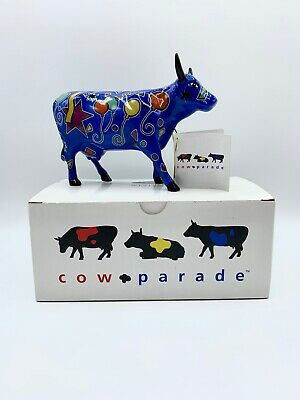 Retired 2000 Cow Parade Party Cow By Westland Giftware With Box & Hang Tag