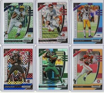 2020 Prizm Draft Football Rookie Refractor Color Serial #d Pick Your Card Player