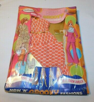 Vintage Groovy Fashions Doll Clothes Barbie Doll Outfit by Shillman MINT ON CARD