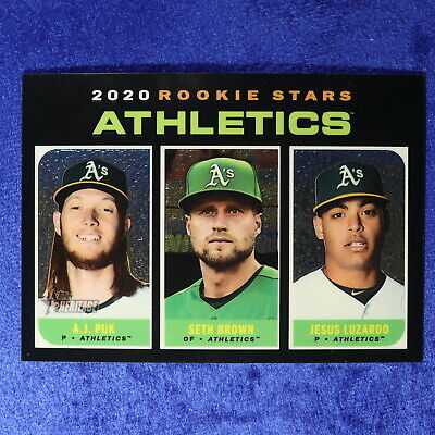 2020 Topps Heritage Card #THC-317: Oakland A's Rookie Stars (CHROME) (20THC-989)