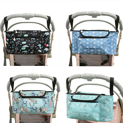 Baby Organiser Cup Bottle Holder Mummy Bag Storage Buggy Stroller Pram Pushchair