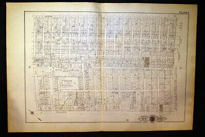 1916 Detroit Plat Map Woodward Ave.Harper Hospital Brush Boulevard Park Baist's