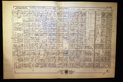 1916 Detroit Plat Map Woodward Avenue Lumber Yards Ferry Ave Baist's