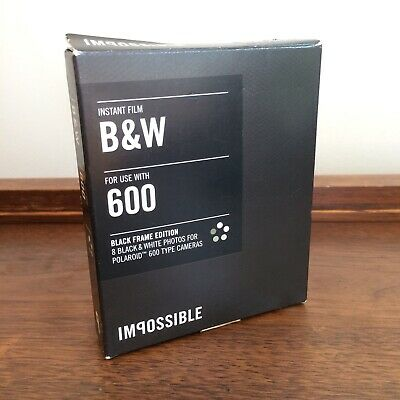 Impossible Project B&W Black Frame Limited Edition Polaroid 600 Film Expired