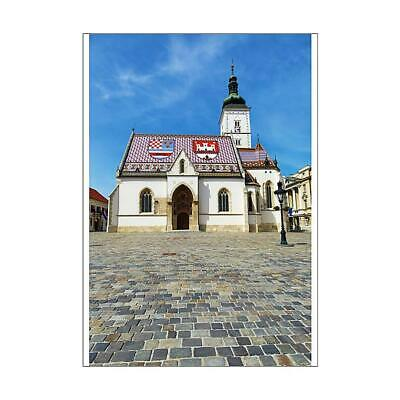 12133543 A1 (84x59cm) Poster St. Marks Church and cobbles of the Square in...