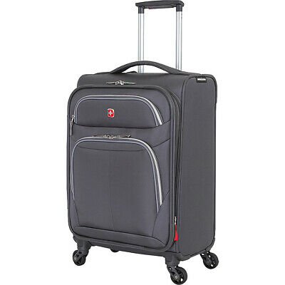 "SwissGear Travel Gear 20"" Spinner - Grey Softside Carry-On NEW"