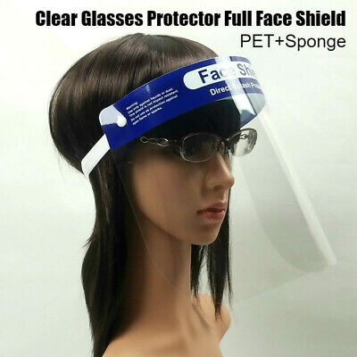 Safety Full Face Shield Clear Covering Glasses Eye Protector Anti-Fog Dustproof