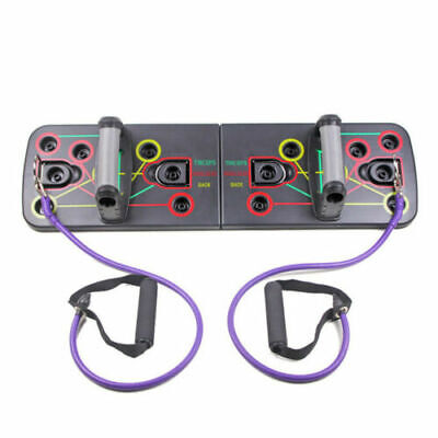 New Push Up Rack Board with Resistance Band Fitness Gym Exercise Pushup Stands A