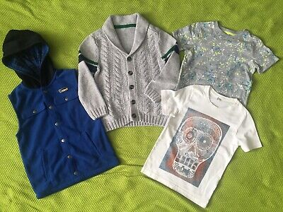 Bundle Boys Clothes Age 5-6 Years Knitted Cardigan T-shirt Gilet Tops M&S