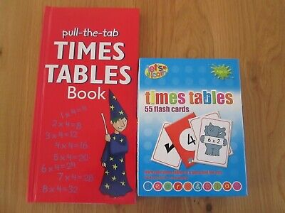 Times Table 55 flash cards with pull the tab Times Table Book