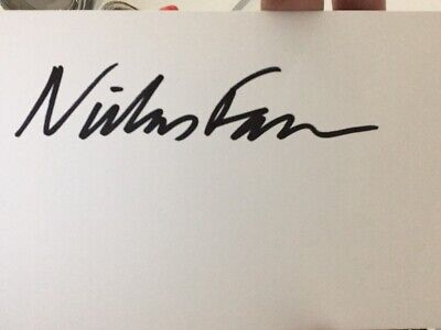Niclas Fasth Signed White Card Sport Autograph Golf