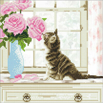 Craft Buddy*Diamond Painting*Diy*Cat & Flowers*Neu+Ovp