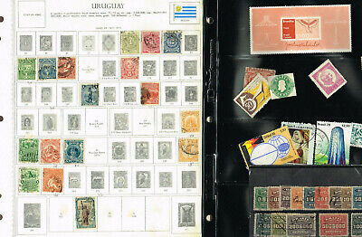6-Pages South America Brazil Uruguay Bolivia Etc F-Vfmh And Used     (Ber15