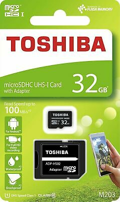 Toshiba M203 32GB MicroSD Card Class 10 with Adapter For TomTom Go Dash Cam DSI
