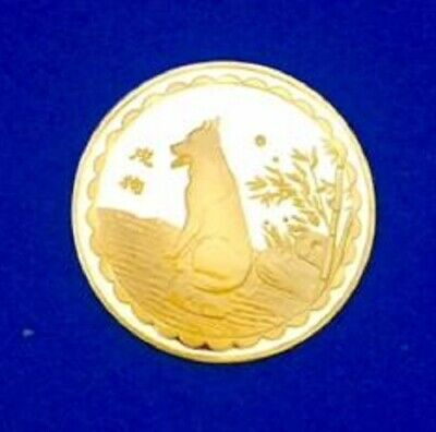 24K Gold Plated JFK Kennedy Half Dollar US Coin Chinese Symbol for LONGEVITY
