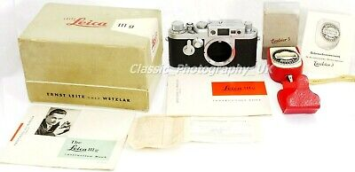 Leica IIIg 35mm Rangefinder Camera made by LEITZ in 1957 + LOTS of Accessories!