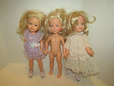 Vintage Lot 3 Doll 16 Inch Vinyl Hard Plastic Tomy Corp Blonde Hair