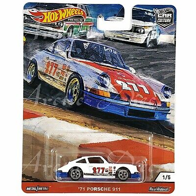 Hot Wheels Premium 2020 Car Culture Door Slammers - White '71 Porsche 911 RRLW5