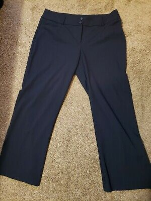 Alfani Navy Blue Pants Size 16 Short