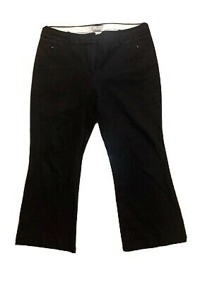 J Crew Womens Pants Teddie Bootcut Black Cropped Kick Hem Size 10 Work Career