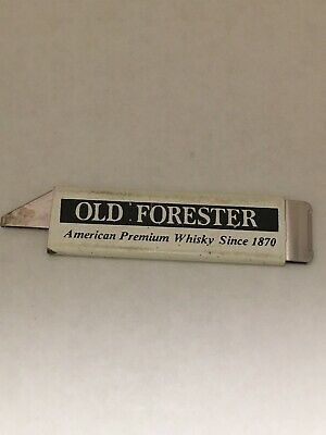 Vintage Old Forester American Premium Whisky Box Cutter