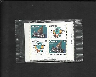 pk49563:Stamps-Canada PO Pack #770a Inuit Travel 14 cent Plate Block Set-MNH