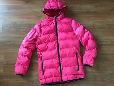 Girls Ladies NEON Pink ADIDAS PUFFA COAT JACKET (age13-14) *GREAT COND*