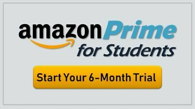 Amazon Prime UK 6 Month Student Pass + 4 Years of Half Price (INSTANT DELIVERY!)