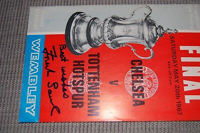 Spurs 1967 Fa Cup Final Verses Chelsea Signed By Frank Saul