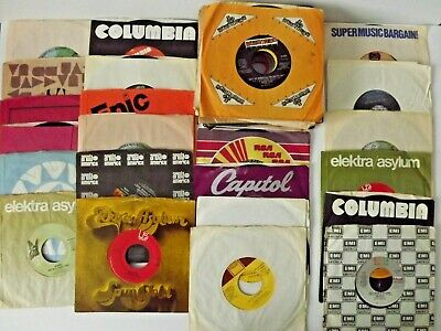"Mixed Lot of (50) 45 RPM 7"" Vinyl Records Jukebox Assortment Various Artists"