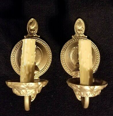 Fabulous Pair Of Antique Moe Bridges Wrought Iron Wall Sconces - Fully Restored