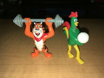 "Tony the Tiger Frosted Flakes & Cornelius Rooster Corn Flakes 2 1/2"" Figures"