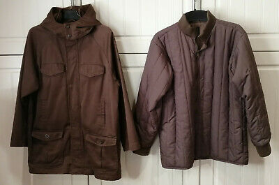 expensive(RRP £79.99)GAP KIDS XL / TG 12-13yrs brown 2 in 1 FATIGUE/PARKA JACKET
