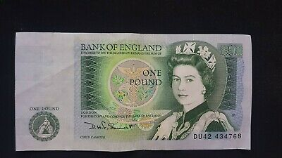 Uncirculated 1978-1983 Bank of England One Pound £1 Note - 100% Genuine