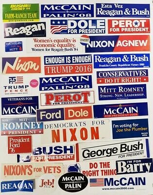 Vintage Republican Bumper Sticker Collection -36 Different