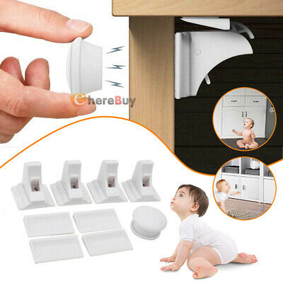 Magnetic Lock Children Protector Baby Safety Drawer Latch Cabinet Door Limiter