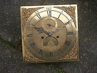 C1750 8 day  LONGCASE GRANDFATHER CLOCK DIAL+movement 12 inch        WILKS OF WO