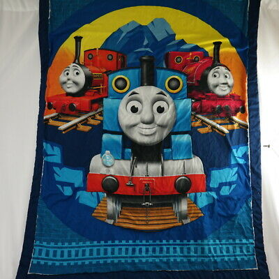 Thomas the Tank Engine & Friends Crib Quilt Comforter Pillow Case Infant Toddler