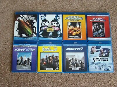 The Fast and the Furious  8 movie collection ( Blu-ray & some DVD Disc)