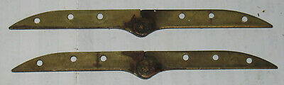 2 (1-Pair) Vintage Solid Brass Jackknife Knife Hinges Furniture Repair Refurbish