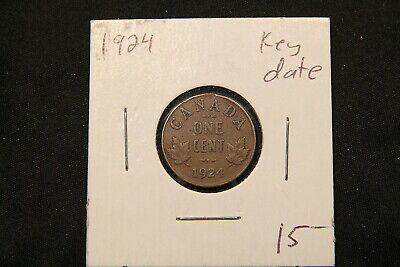 1924 Canada Small Cent. Key Date Coin.