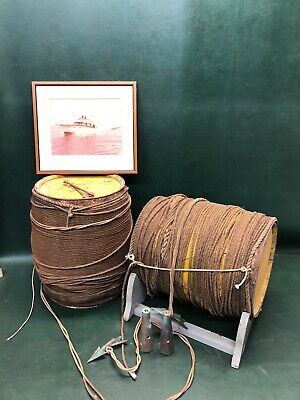 Cape Cod 1950's Sword /Tuna Fishing Barrels w/ Bronze Harpoon Spears Hardware