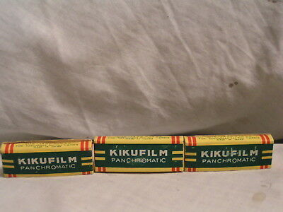3 Packages Made In Japan  Kikufilm For Toy Cameras