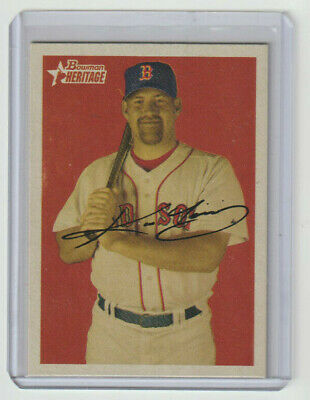 KEVIN YOUKILIS Red Sox SIGNED 2006 Bowman Heritage #179 Autograph ON CARD AUTO