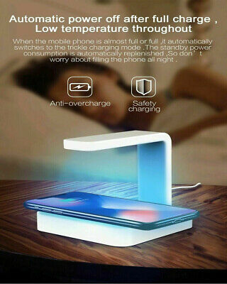 10W LED Cell Phone Wireless Charger UV Sanitizer Box For Universal Phone 2-in-1