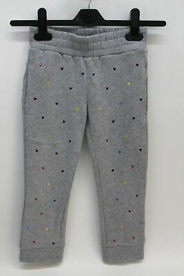 STELLA MCCARTNEY KIDS Girls Grey Metallic Heart Stud Niamh Trousers 5 Yrs. BNWT